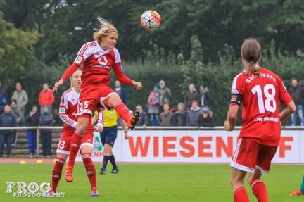 FFC Frankfurt's Saskia Bartusiak against SV Werder Bremen.