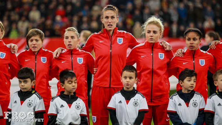 England during the anthems.