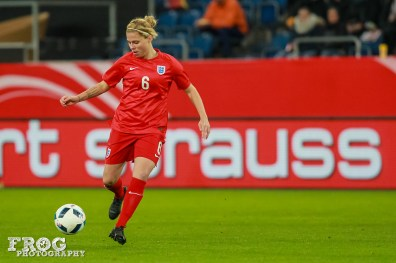 England's Gilly Flaherty.