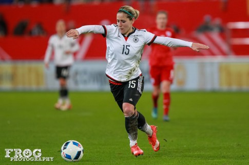 Midfielder Anna Blässe of Germany.