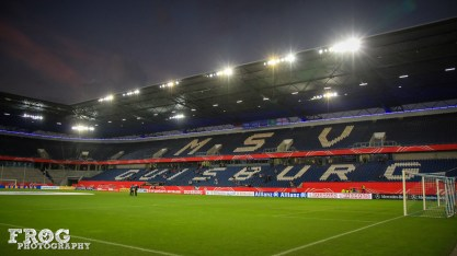 MSV Duisburg Stadium before the game.