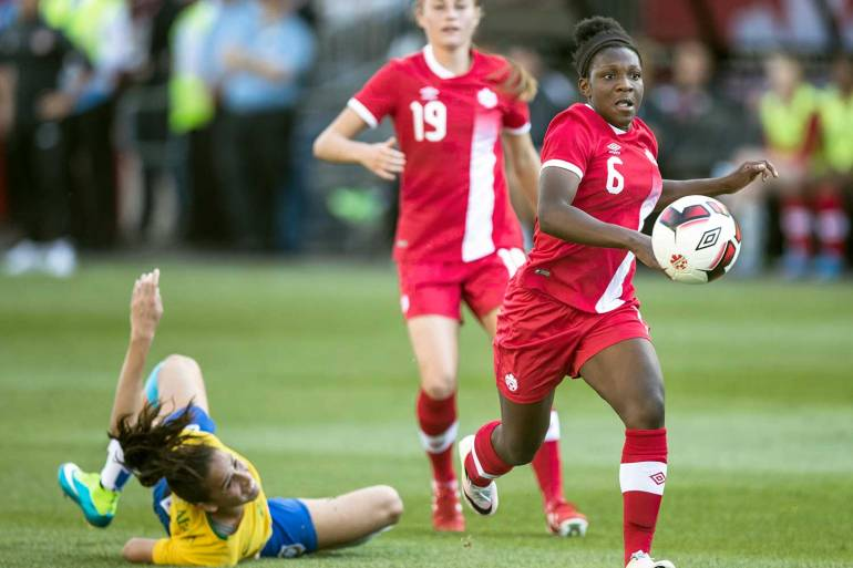 Deanne Rose against Canada. (Canada Soccer)
