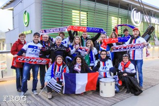 "Lyon's supporters ""OL Ang'Elles."""
