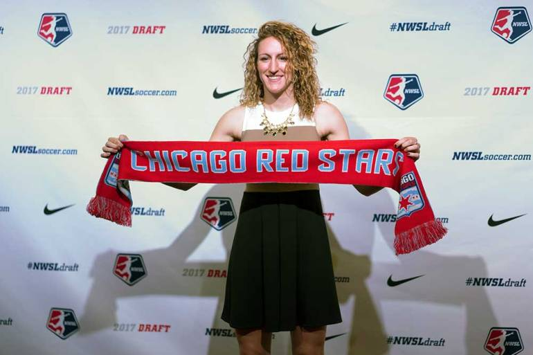 Morgan Proffitt drafted by the Chicago Red Stars. (Manette Gonzalez)
