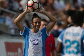 Ali Krieger with the throw-in. (Shane Lardinois)