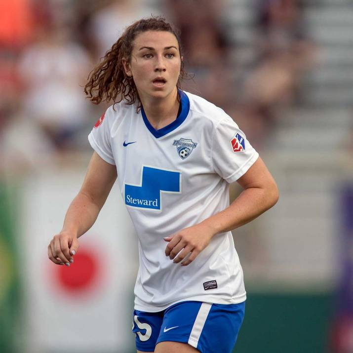 Morgan Andrews of the Boston Breakers. (Shane Lardinois)