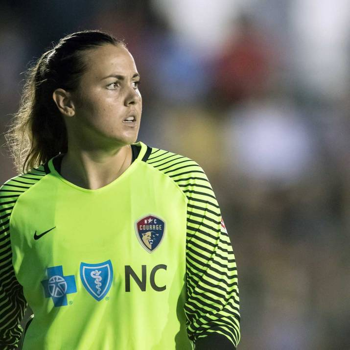 North Carolina Courage goalkeeper Katelyn Rowland. (Shane Lardinois)