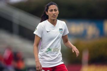 Christen Press with the Chicago Red Stars. (Shane Lardinois)