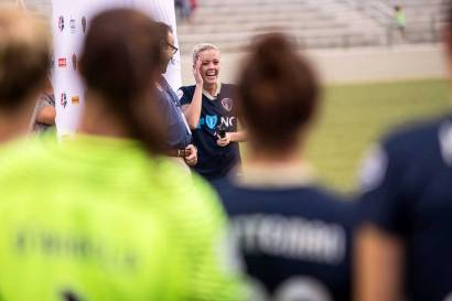 Denise O'Sullivan of the North Carolina Courage. O'Sullivan's had the late game-winner to send the Courage to the 2017 NWSL Championship. (Shane Lardinois)