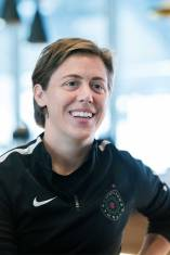 Meghan Klingenberg during 2017 NWSL Media Day. (Monica Simoes)