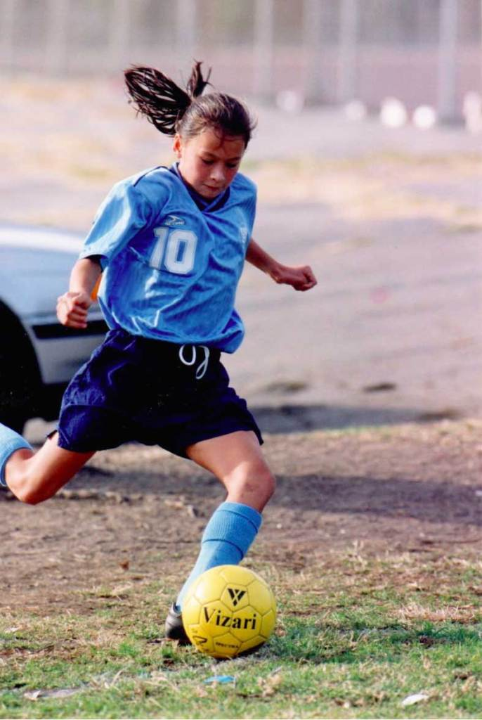 Ali Riley playing soccer at a young age. (Ali Riley)