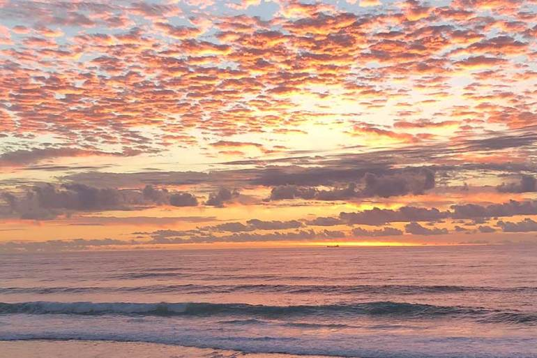 Australian sunrise courtesy of Katie Stengel.