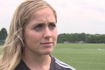 Brianna Visalli giving interview about her move to Birmingham City. (Birmingham City TV)