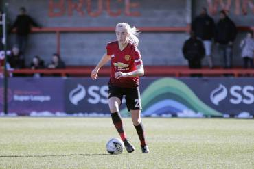 Manchester United center back Millie Turner. (James Boyes / James Boyes from UK [CC BY 2.0 (https://creativecommons.org/licenses/by/2.0)])