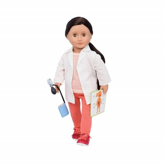 Our Generation Specialty Doll Family Doctor Nicola 18 inch BLACK HAIR