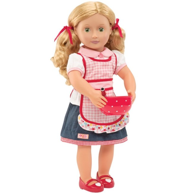 Our Generation Deluxe Doll Jenny 18 inch Blonde With Book