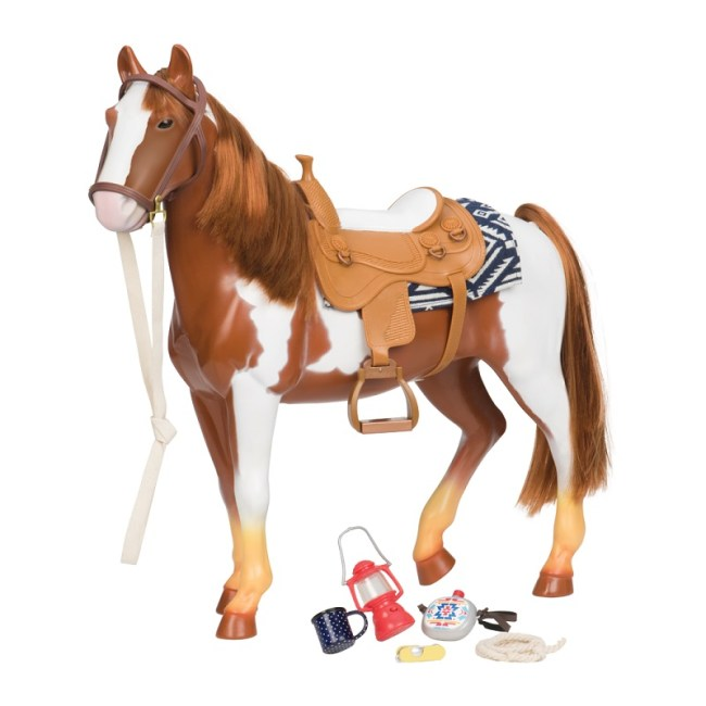 Our Generation Horse Appaloosa Trail Riding White/ Brown 20 inch