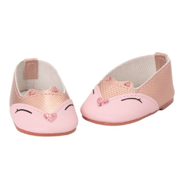 Our Generation Pink Kitty Shoes For 18 inch Doll