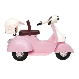 Our Generation Ride in Style Scooter Pink and Ivory