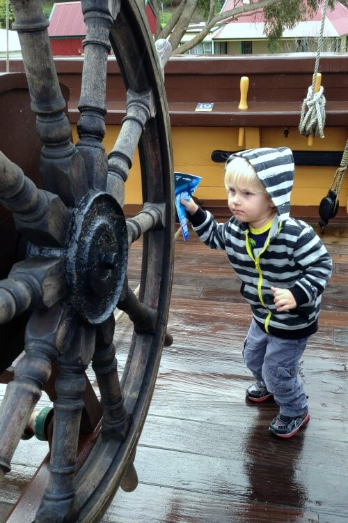 Child on board Brig Amity in Albany | Things to do in Albany Western Australia with Kids