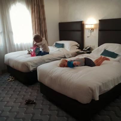 2nd bedroom at Gefinor Rotana Beirut a family-friendly hotel option in Lebanon | Our Globetrotters Family Travel Blog Hotel Review