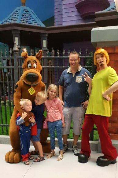 Scooby Doo ride at WB World | WB World Abu Dhabi Family Review