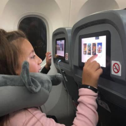 Kids on board Norwegian flight from JFK to LHR