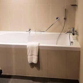 Master bathroom | Novotel World Trade Centre Dubai Family Review