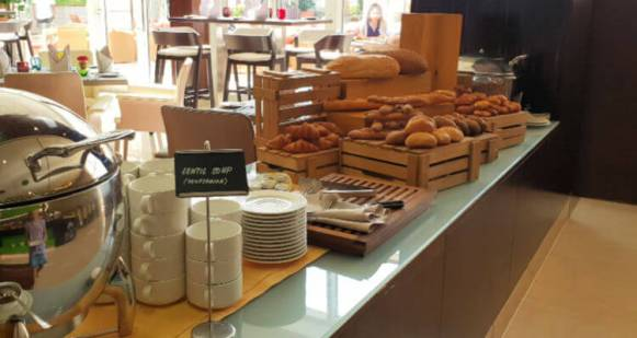 Bread selection at Entres Nous | Novotel World Trade Centre Dubai Family Review