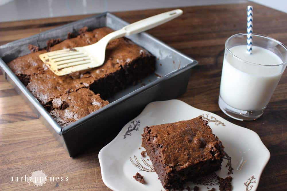 The best brownies from scratch. These fudgy brownies are thick, moist and decadent. Barely more trouble than a box mix, and so worth it!
