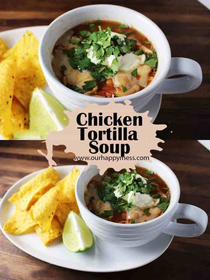 This quick and easy version of chicken tortilla soup has big flavor and gets its mellow heat from a chipotle chile.