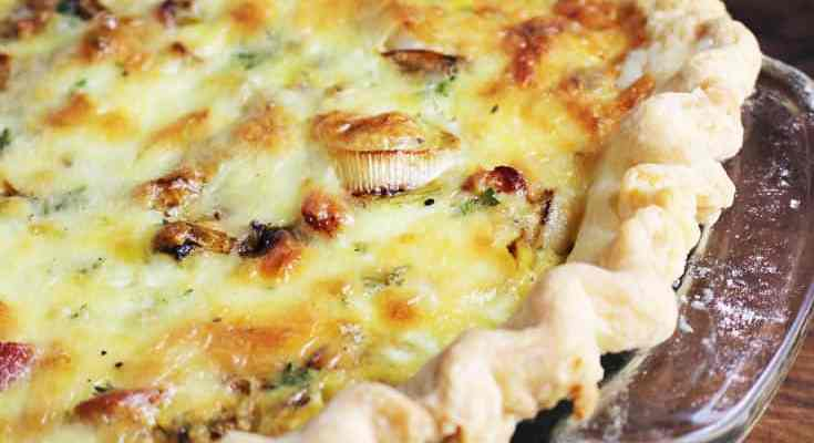 Spring Leek and Bacon Quiche
