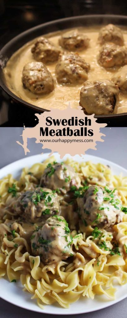 These Swedish meatballs with a creamy sauce and great flavor are perfect comfort food!