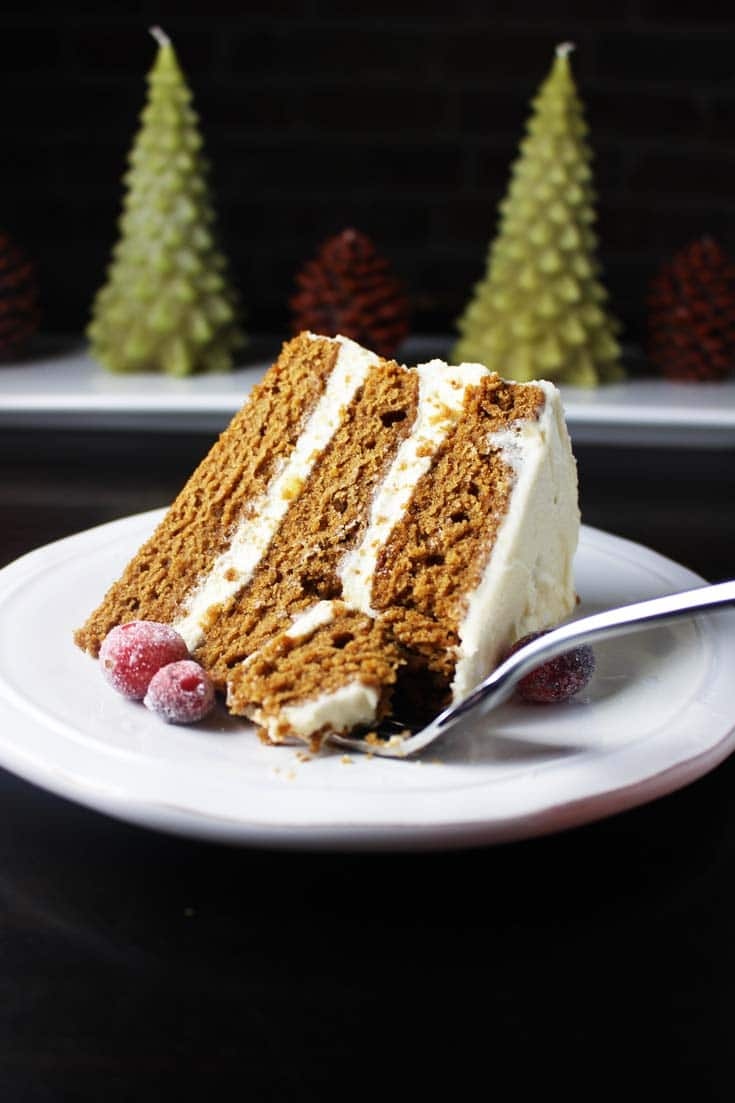 Gingerbread Cake with Brown Butter Frosting
