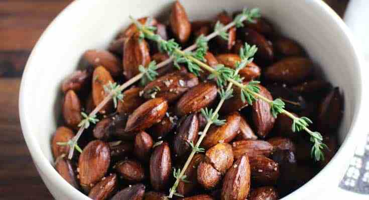 Roasted Almonds with Herbs
