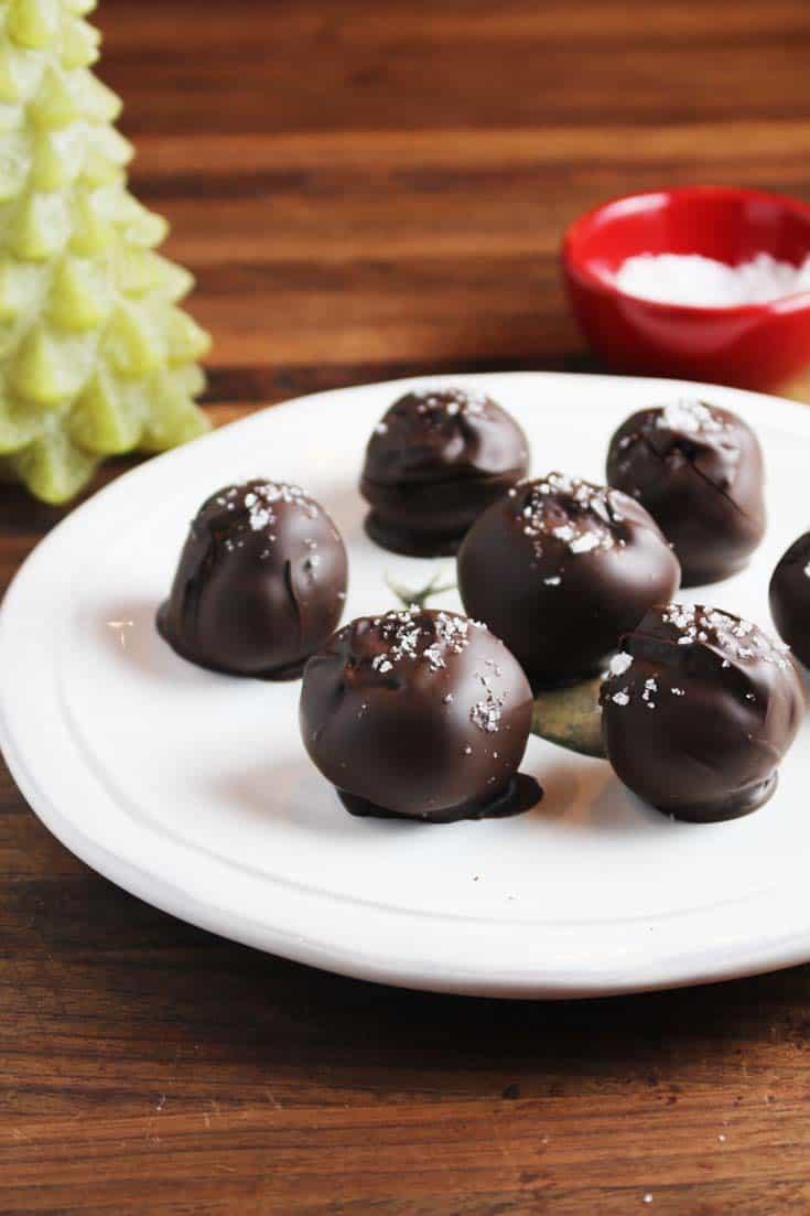 Dark Chocolate Truffles with Caramel