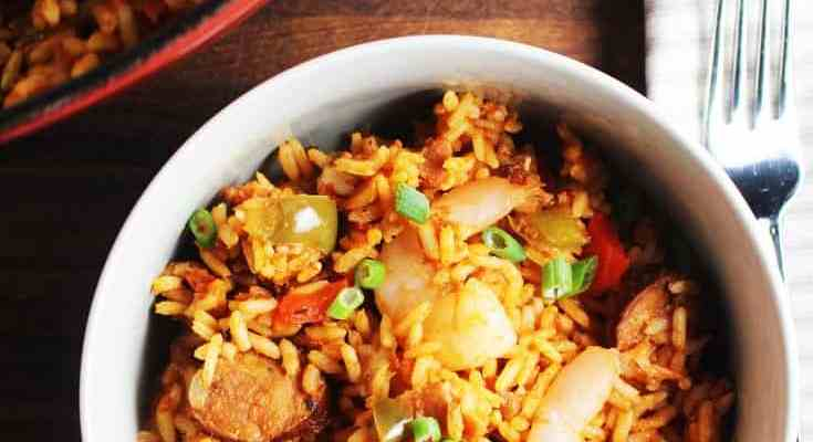 Easy Chicken, Shrimp and Sausage Jambalaya