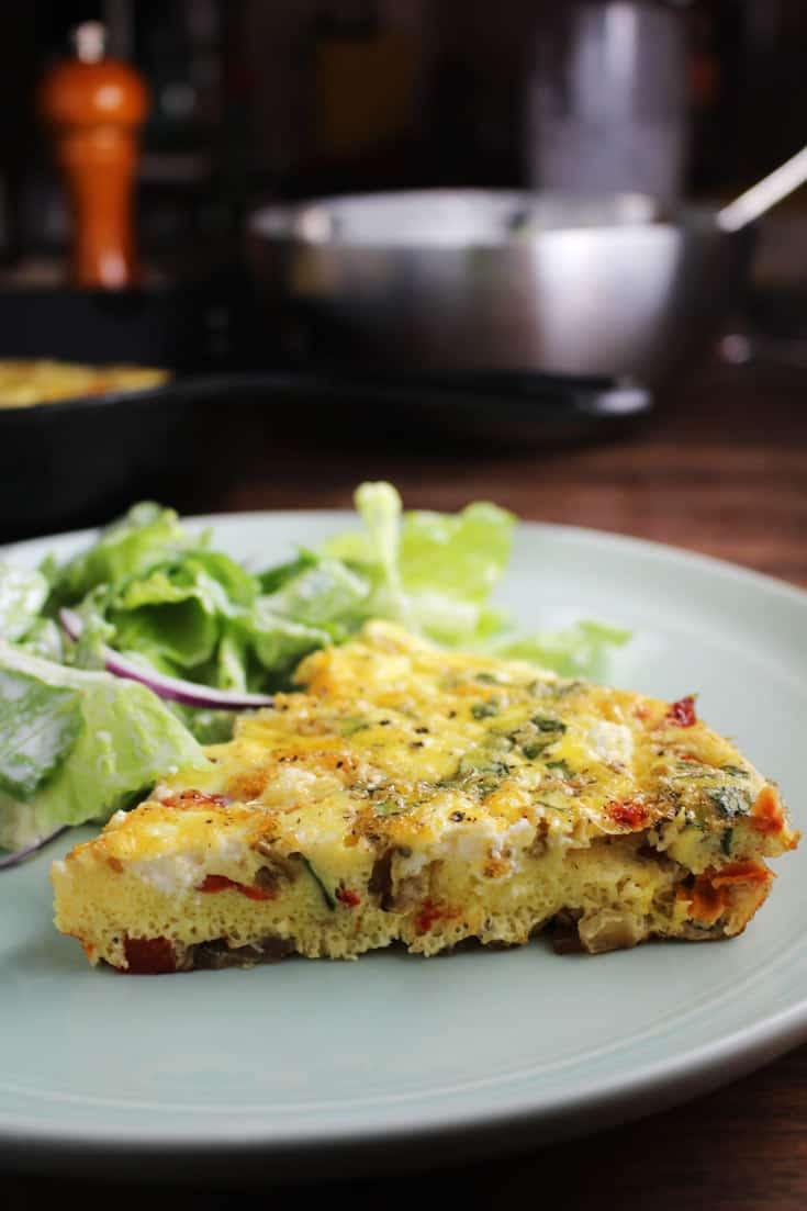 Easy Frittata Recipe with Goat Cheese and Sun-dried Tomatoes