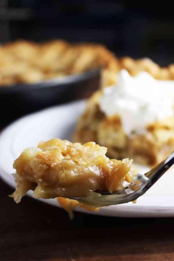Forkful of Quebec sugar pie