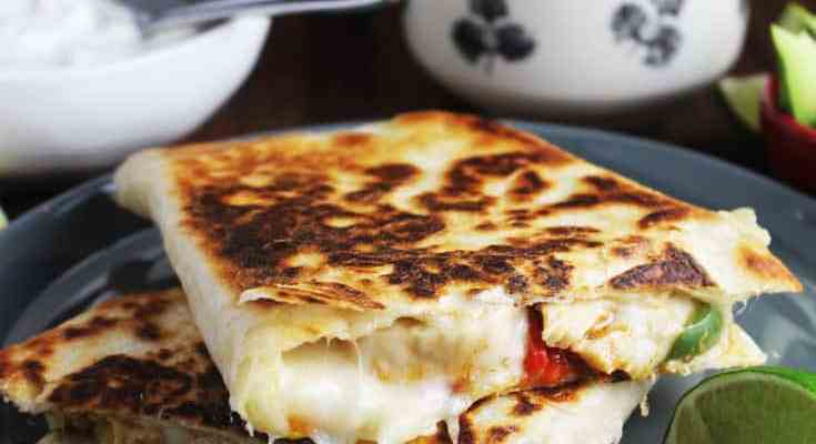Chicken Quesadillas with Vegetables