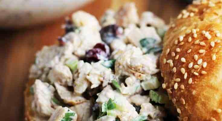 Walnut Cranberry Chicken Salad