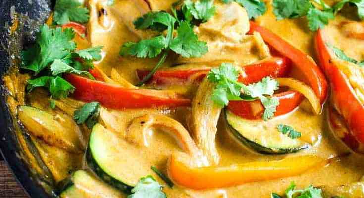 Thai Red Curry with Coconut Rice
