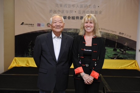 HWH practitioner Dr Gao Yimin, a TCM practitioner for more than 50 years​​​​, alongside  Jill