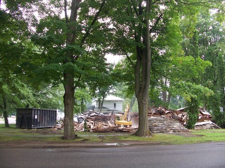 """Myers Temple"" storage building dismantled, 2013"