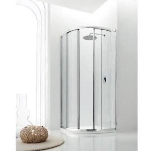 Box doccia semicircolare 80 due porte scorrevoli raggio 55 cm Jolly