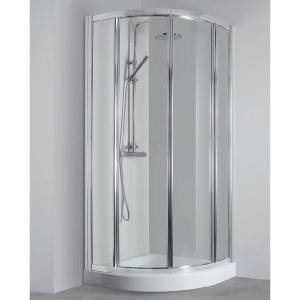 Box doccia semicircolare 90x90 porte scorrevoli raggio 55 Elba Tondo