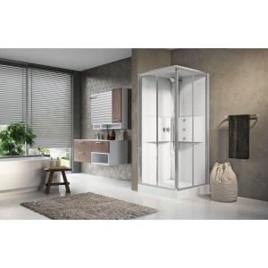 Cabina doccia idromassaggio quadrata 90x90 porte scorrevoli Media 2.0