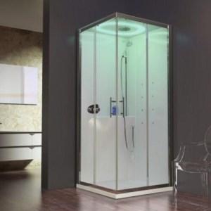 Cabina Doccia Multifunzione quadrata 90x90 porte scorrevoli Eon