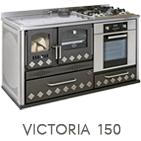 Cucina a legna Victoria 150 potenza 7,6 kW refrattario