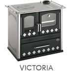 Cucina a legna Victoria potenza 7,6 kW refrattario